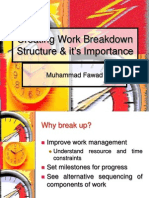 Creating Work Breakdown Structure & it's Importance