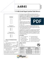 A6841 DABiC-5 8-Bit Serial Input Latched Sink Drivers