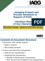 Key Characteristics Variation