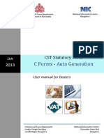 Karnataka Auto C Forms User Manual