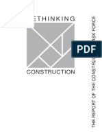 Rethinking Construction Report