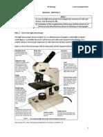 Pratical 1 - Microscopy
