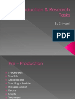 Pre-Production & Research Tasks