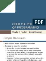 Chapter6 Func SimpleRecursion