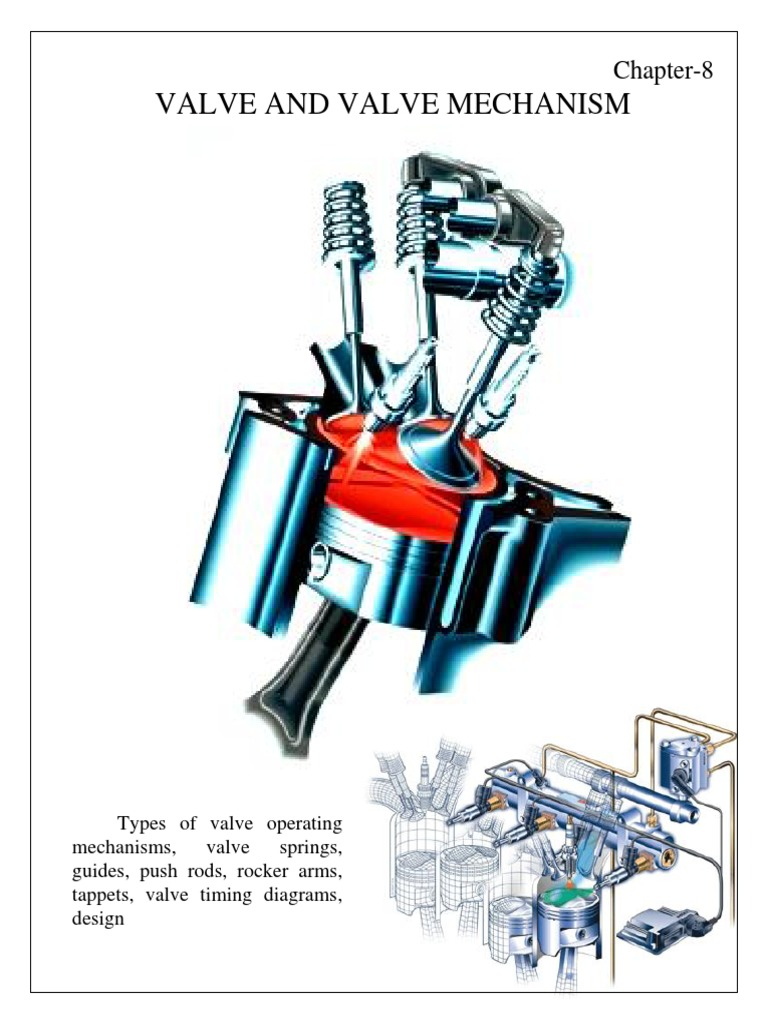 Valva Mechanism Steel Internal Combustion Engine Valve Timing Diagram