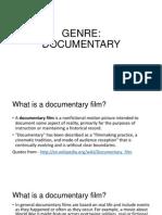 GENRE Documentary