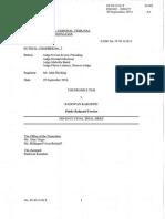Radovan Karadzic defense brief