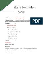 Praktikum Formulasi Steril