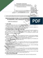 Buletin Informativ Principalii Indicatori Ai Cunoasterii Starii de Sanatate Pe Semestrul I 2013 Comparativ Cu Semestrul I 2012