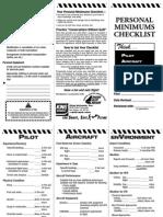 Personal Minimums Checklist