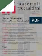 Materiali Foucaultiani a. II, n. 4 Lug-dic 2013 (Butler-Foucault; Undoing Norms, Reworking Subjects)