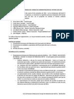 Acta de Reunion Ordinaria Del Consejo de Administración Del Sistema San Jose 300914