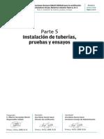Instalacion de Tuberias Pruebas y Ensayos Gas