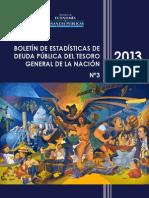 Boletín de Estadísticas de Deuda Pública Del Tgn - 2013 - Español