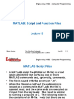 Lecture 19 - MATLAB Script&Function Files - 06