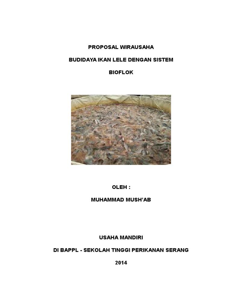 Proposal Wirausaha Budidaya Ikan Lele Dengan Sistem Bioflok