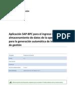 Solución Aplicación SAP BPC