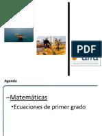 MATEMATICA Básica-Ecuaciones de Primer Primer Grado