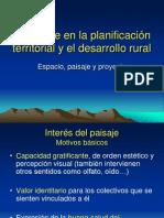 El Paisaje en La Planificacion Territorial