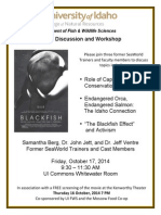 Blackfish Screening & Panel Discussion