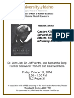 Blackfish Seminar & Screening