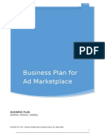 Business Plan for Ad MARKETPLACE