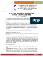 A Review on Cloud Computing Issues and Challenges (Simran Kaur, PS Mann)