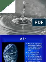 kimia Air. jenis jenis air air sanitasi . air boiller . kegunaan air .