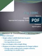 TuesEng100BC ClassDiv ApLangWordyExact Apostrophes Commas FA14