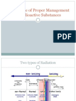 Importance of Proper Management of Radioactive Substances