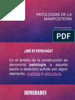 Patologías de La Mampostería - Exposición