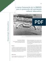 Convención Unesco Patrimonio Cultural Subacuático