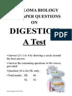 Digestion Questions Ib TEST