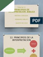 Tema No 12 Principios de Interpretacion