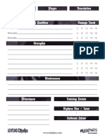 Achtung! Cthulhu - Zero Point 1 - Three Kings - Character Sheet