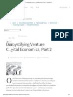 Demystifying Venture Capital Economics - Part 2