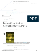 Demystifying Venture Capital Economics - Part 1