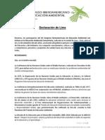 Declaración Lima