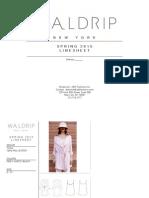 Waldrip SS15 Linesheet