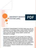 University Management System (Ums) in Powepoint