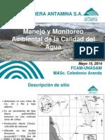 Manejo y Monitoreo de Agua en Antamina - FCAM UNASAM 2014