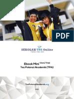 eBook Contoh Soal Tes Potensi Akademik TPA Snmptn Bappenas s2 s3 Gratis Online Ver1