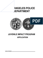 Juvenile Impact Program Application (English)