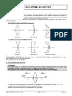 31-106 Optique Lentilles Minces