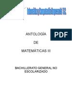 Antologia de Matematicas III