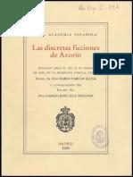 Discurso Ingreso Mario Vargas Llosa