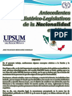 La Nacionalidad Historico Legislativo Ppt