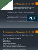 Psicologías en Alemania a fin SXIX.pptx
