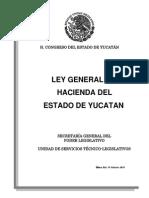 Ley General de Hacienda Del Estado de Yucatn Ley 291