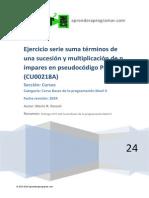 CU00218A Algoritmo Diagramas Flujo Serie Suma Terminos Sucesion y Multiplica